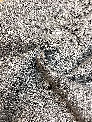 MARK & SPENCER / NEXT CHARCOAL CHENILLE UPHOLSTERY FABRIC 2.1 METRES