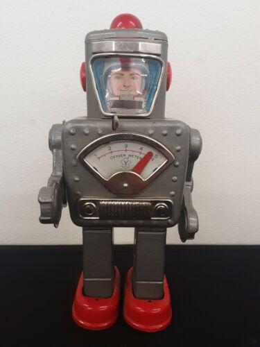 Vintage Yonezawa Wind-Up Space Explorer Japan Tin Toy Robot Working