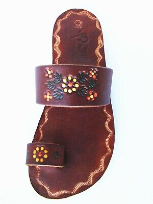 Brown Women's Toe ring Mexican Leather Handmade Sandal Huaraches (Brown Leather Woman Sandal)