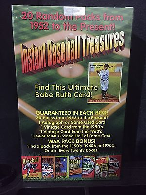 Ultimate Babe Ruth Chase Box 20 Packs  1950 60S Card   Graded   Autograph Jersey