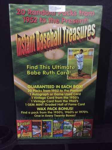 INSTANT BASEBALL TREASURES SEALED BOX - 20 UNOPENED PACKS + AUTO/JERSEY +MORE For Sale - 2