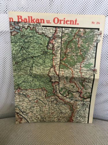 PAASCHES´S WWI WW1 MAP # 24 WESTERN FRONT FRANCE ITALY VOGESEN