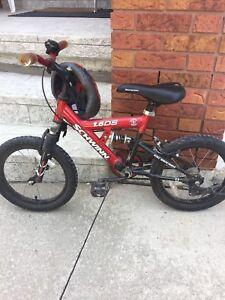 "Schwinn boys 16"" mountain bike red"