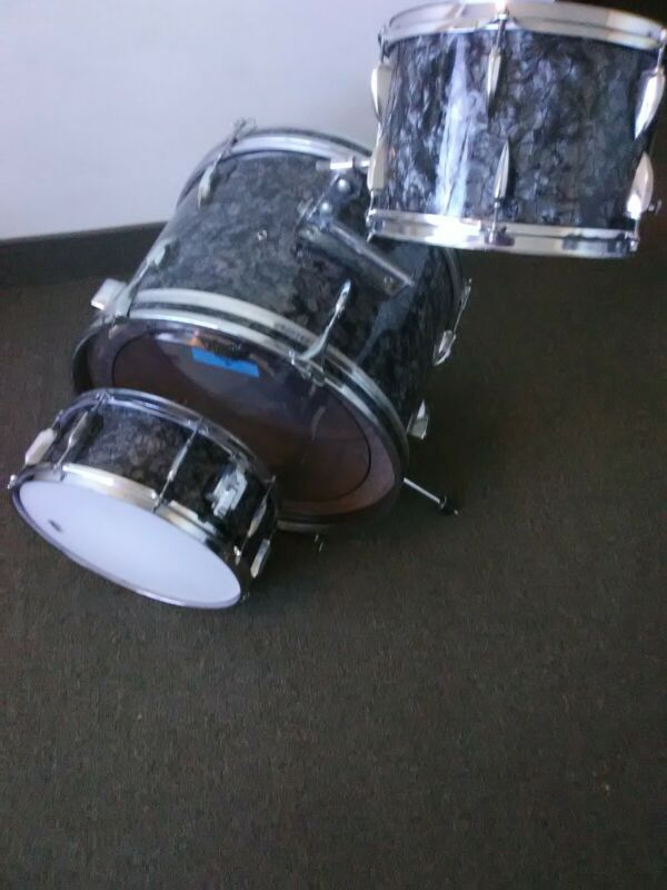 Mij drum set 3 pc,(ideal) VGC,refer.jazz,bop kit bdp.