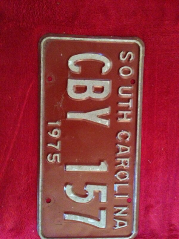 1975 South Carolina License Tag