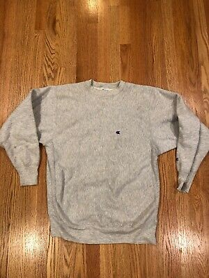 Men's Vintage CHAMPION Reverse Weave Pullover Sweatshirt XXL 2XL Gray VTG 90's