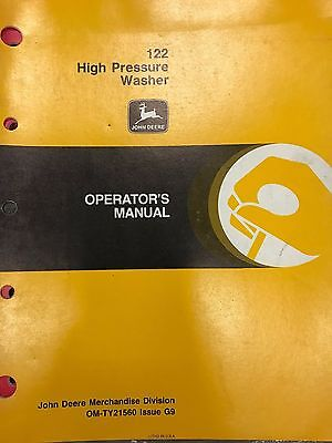 John Deere Operators Manual 122 High Pressure Washer Omty21560 Used