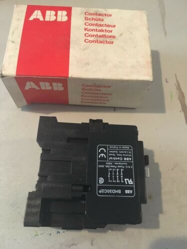 NEW IN BOX ABB CONTROL CONTACTOR BHD30C2P-1