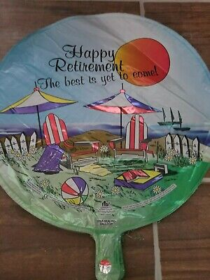 Happy Retirement Foil Balloon Medium New - Happy Retirement Balloons