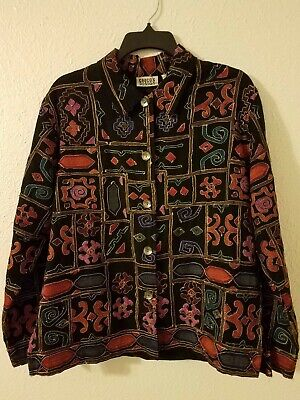 Chicos Design Embroidered Jacket Size 1