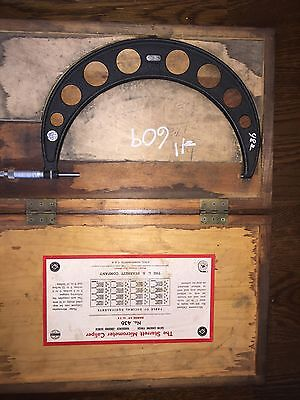 Starrett Outside Micrometer No. 436 10-11 In Wooden Case