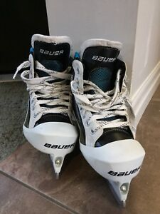 Bauer Youth Goalie helmet and skates