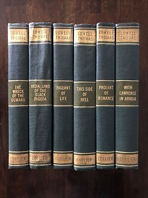 Lowell Thomas Adventure Library 6 Volume Set by Collier 1920's/40's