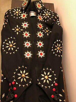 Elvis Jumpsuit - Black Matador, Professional Quality Tribute Suit made by B & K  - Pro Elvis Jumpsuit