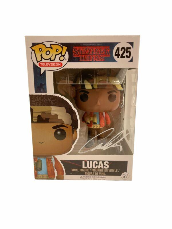Caleb McLaughlin Autograph Funko POP Stranger Things #425 Lucas Signed JSA COA