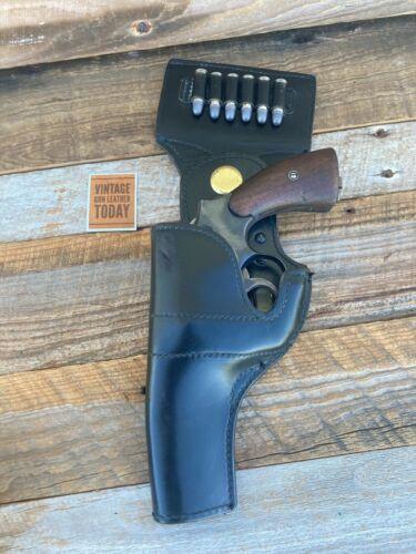 "Vintage Police Jay Pee Black leather Swivel Safety Holster 4"" Model 10 Revolver"