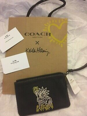 Coach New York x Keith Haring Wristlet Purse/wallet, New with tags