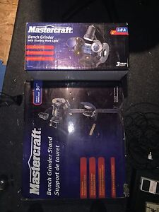Master craft bench grinder and stand in box