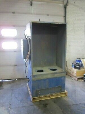 Nordson Econo-coat Powder Booth Model Nvc-4 2000 Cfm Dust Collector