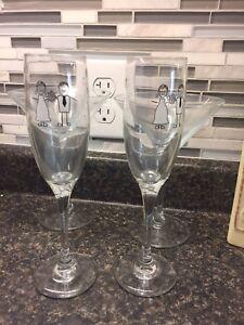 Martini and champagne glasses
