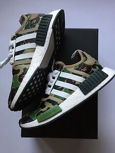 ADIDAS NMD R1 BAPE Green Camo, Authentic, Original DS Size 6 US Mulgrave Monash Area Preview