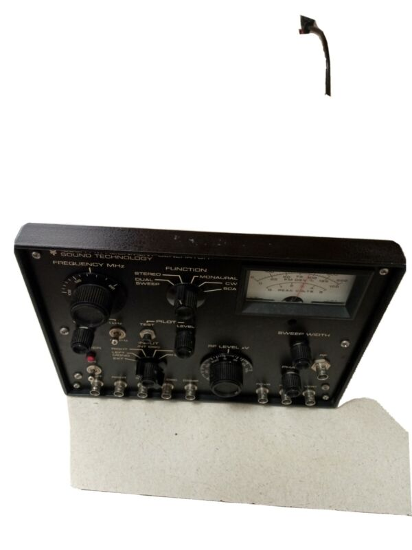 Sound Technology 1000A FM Alignment Generator powers on