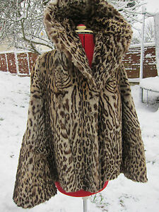 Genuine Vintage Ocelot 1930s swing fur coat jacket CITES EXEMPT as pre 1947