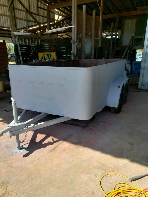 Flatbed Utility Equipment Trailer with sides.