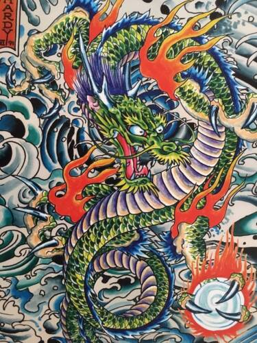 ED HARDY TATTOO DRAGON RARE AUTHENTIC POSTER