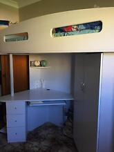 Bunk bed with desk and cupboard underneath Kendall Port Macquarie City Preview