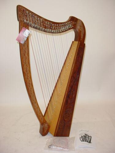 "Mid-East HTHA Roosebeck Heather Celtic Harp 22-String 36"" Mid East"