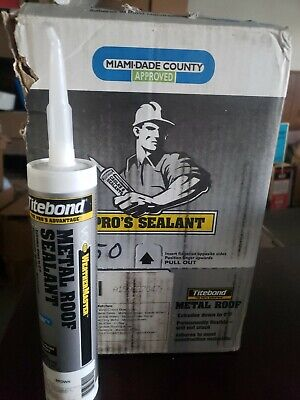 Lot Of 12 Franklin 61201 Brown Metal Roof Sealant 10oz Tite Bond Weather Master