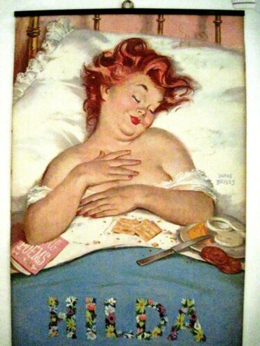 """1960 Advertising Calendar """"Hilda"""" w/ Art by """"Duane Bryers"""" Great Pictures *"""