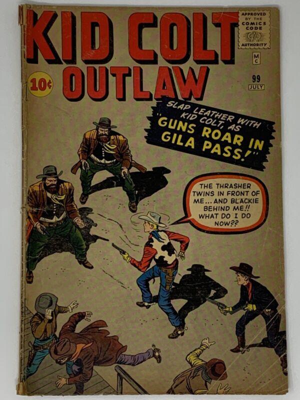 Kid Colt Outlaw #99 1961 Stan Lee! VTG Marvel Comics UNGRADED