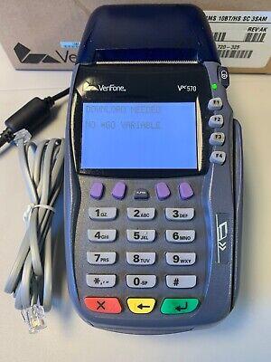 Verifone Credit Card Terminal Vx 570 Omni 5750 M257-553-04-naa W Ac Adapter