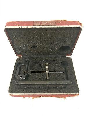 Vintage Starrett 196 Universal Back Plunger Dial Test Indicator Set In Case 5