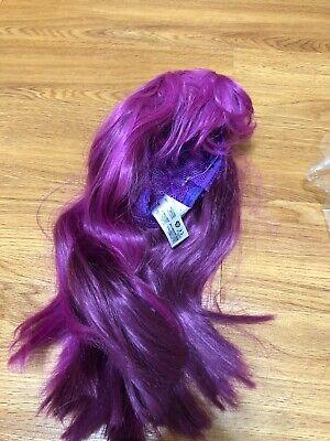 Disney Store Descendants 2 Mal Purple Wig Hair Costume Child Girl