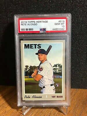 2019 Topps Heritage High PETE ALONSO New York Mets rc #519 Rookie Gem PSA 10