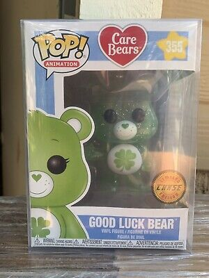 FUNKO POP! Good Luck Bear CHASE Glitter Translucent NEW CARE BEARS PROTECTOR