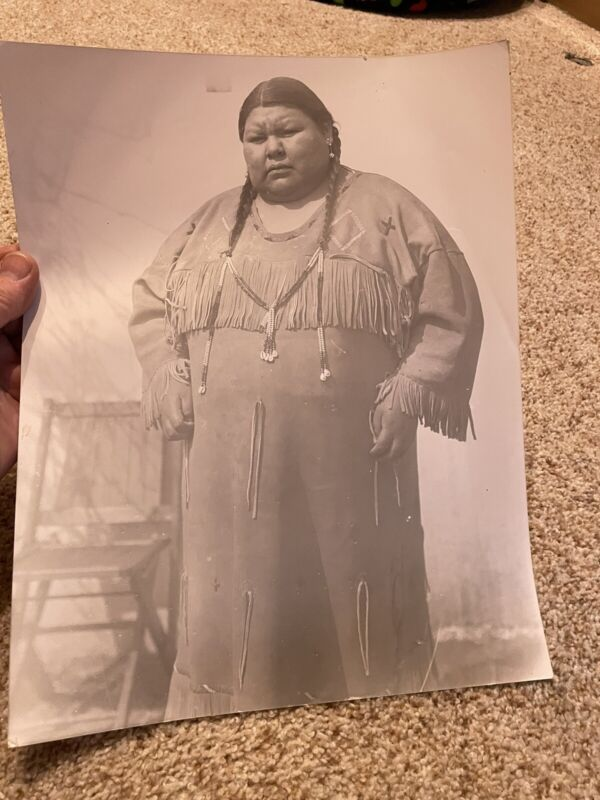 101 Ranch Native American Photo Indian 11 X 14 Rare Old Antique Oklahoma