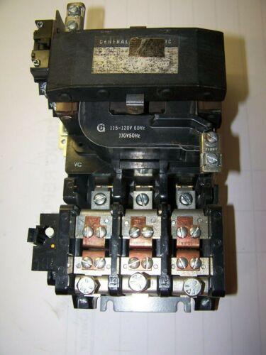 GE GENERAL ELECTRIC 35 AMP 100 HP 120 VAC COIL NEMA SIZE 4 MOTOR STARTER CR306F0