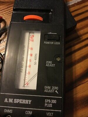 Vintage Snap Around Amp Meter Aws Td-2608 Wcarry Case Leads And Manual
