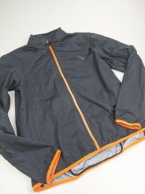 Iffley Road Long Sleeve Waterproof Commute Cycling Jacket Black Orange Sz XL