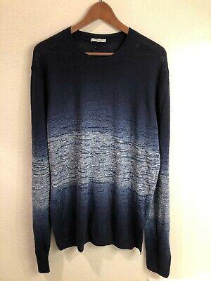 Paolo Pecora Milano blue crew neck sweater (size: XL) - great condition!
