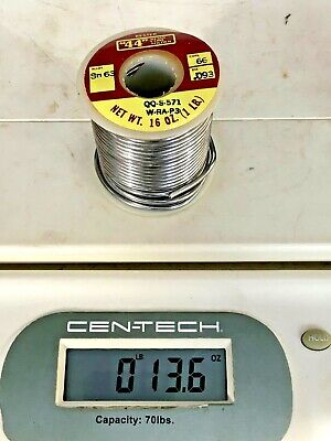 One Roll Kester 44 Resin Core Solder Alloy Sn63 .031 Diameter Core 66 Qqs-571