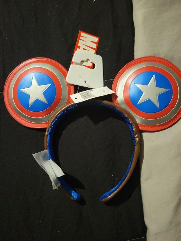 Disney Parks Captain America Super Soldier Marvel Mouse Ears Headband 2021