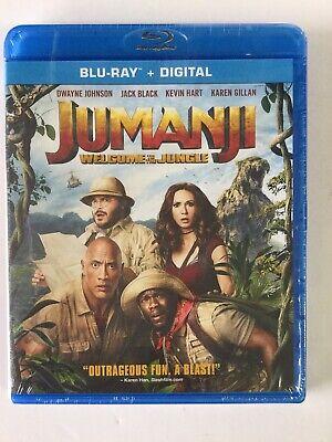 Jumanji Welcome To The Jungle BLU-RAY + DIGITAL!!! Brand New