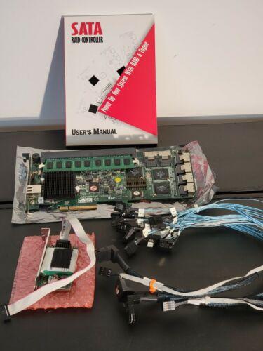 Areca ARC-1280ML SATA Controller Card 24port 2GB cache Cables and Battery Raid 6