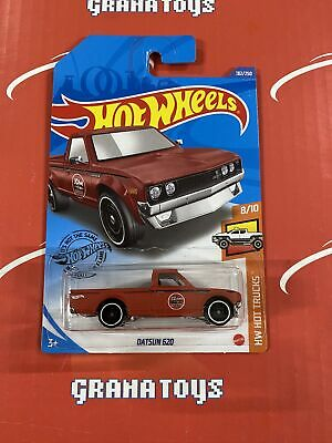 Datsun 620 #182 Flat Red 8/10 Hot Trucks 2020 Hot Wheels Case K