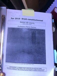 Droit constitutionnel notes de cours 2001,2002